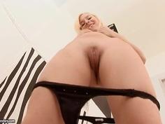 Awesome masturbation of the blonde babe Lisa