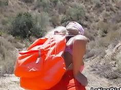 Blown by bigtit gf on a hike