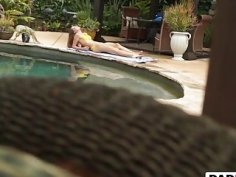 Zoey Laine seduced by the pool and fucked in the bathroom