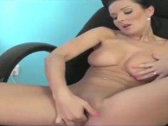 Vanessa Jordin Masturbates at Work