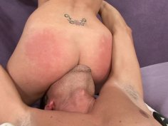 Dirty blonde pussy and ass first cleaned then fucked