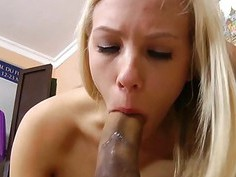 Giant penis satisfies bawdy hottie to the max