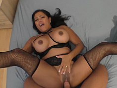 Asian Milf squirts through two sets of sheets