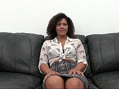 Hot casting for a sexy black babe