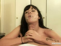 Latin sexploitress Andy San Dimas polishes a nasty asshole