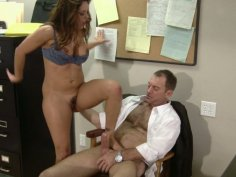 Slutty and horny office employee Francesca Le rides the cock of her boss