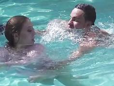 Hot gf Jojo Kiss screwed by the poolside