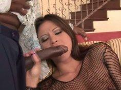 Jayna Oso and Lana Croft suck one black dick
