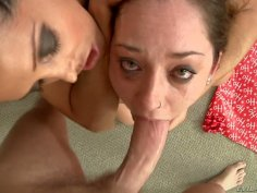 Poor Remy Lacroix is chocking while sucking Mark Wood's hard dick deepthroat