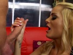 Blonde slut craving for cock