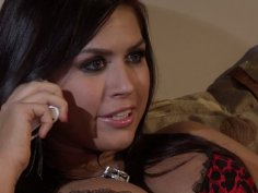 Getting her pussy licked Eva Angelina repays with a stout blowjob