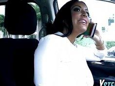 Stepmom Kiara Mia fucks in threesome with young princess Ariana Marie