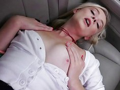 Blonde Maddy Rose gets banged in the car