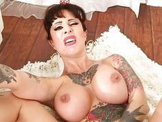 Big tits tattooed pornstar anal slammed