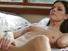 India get's ready in her bedroom unaware of Rebel's eyes