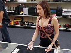 Beautiful girl fucked at the pawnshop for a silver chain