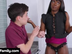 Ana Foxxx Lets Her Son's Friend Try Out The New Panties