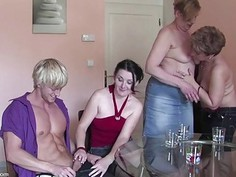 Three Housewives get wet and wild