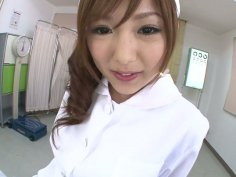 Sultry oriental nurse named Miku Airi gives her jap fucker some head