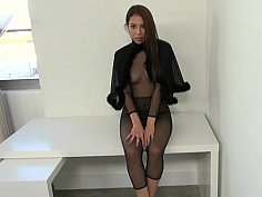 GF in a see-through outfit