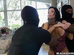 Big black cocks for big mom tits