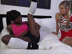 Interracial cheerleaders