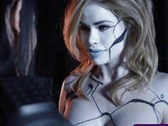 Power Ranger chick seduce a hot robotic humanoids pussy