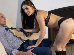 Cloth Sniffing Randy Babysitter Alina Seduces Boss