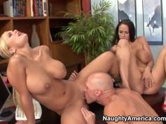 Johnny Sins gets into threesome with Shyla Stylez and Carmella Bing