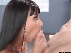 Horny sluts Bibi and Anissa fucks in all of their holes
