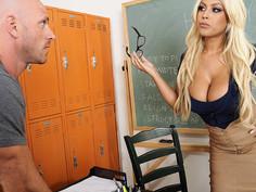 Bridgette B. & Johnny Sins in My First Sex Teacher