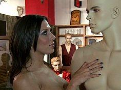 Porn Star fucks at a sex shop