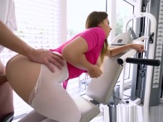 I Know That Girl - Athletic Brunette Ivy Rose shows off her Perfect DDDs