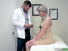 Pretty hottie Vienna Rose is fucked by handsome young gynecologist