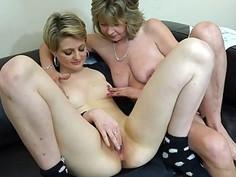 OldNanny lesbian couple crazy mature learn masturb