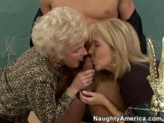 Hot sluts Erica Lauren & Mrs Jewell fuck with one guy