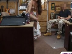 Ex dominatrix banged by nasty pawn keeper in the office