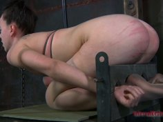 Locked up slut can take tough BDSM games
