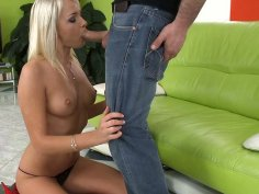 Proper cunnilingus for astonishing blonde bitch Ivana Sugar