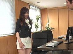 Japanese secretary sensitive pussy