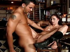 Huge cock for very hairy slut Gianna Michaels