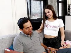 Lucy Doll got her pussy finger fucked by step dad