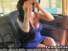 Huge tittied babe fingers redhead cab driver
