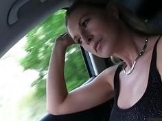 Huge boobs Alena twat railed by stranger in public location