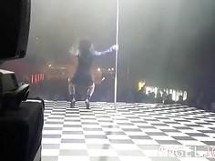Perfect striptease of punk fetish girl Joanna